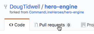 The pull requests link