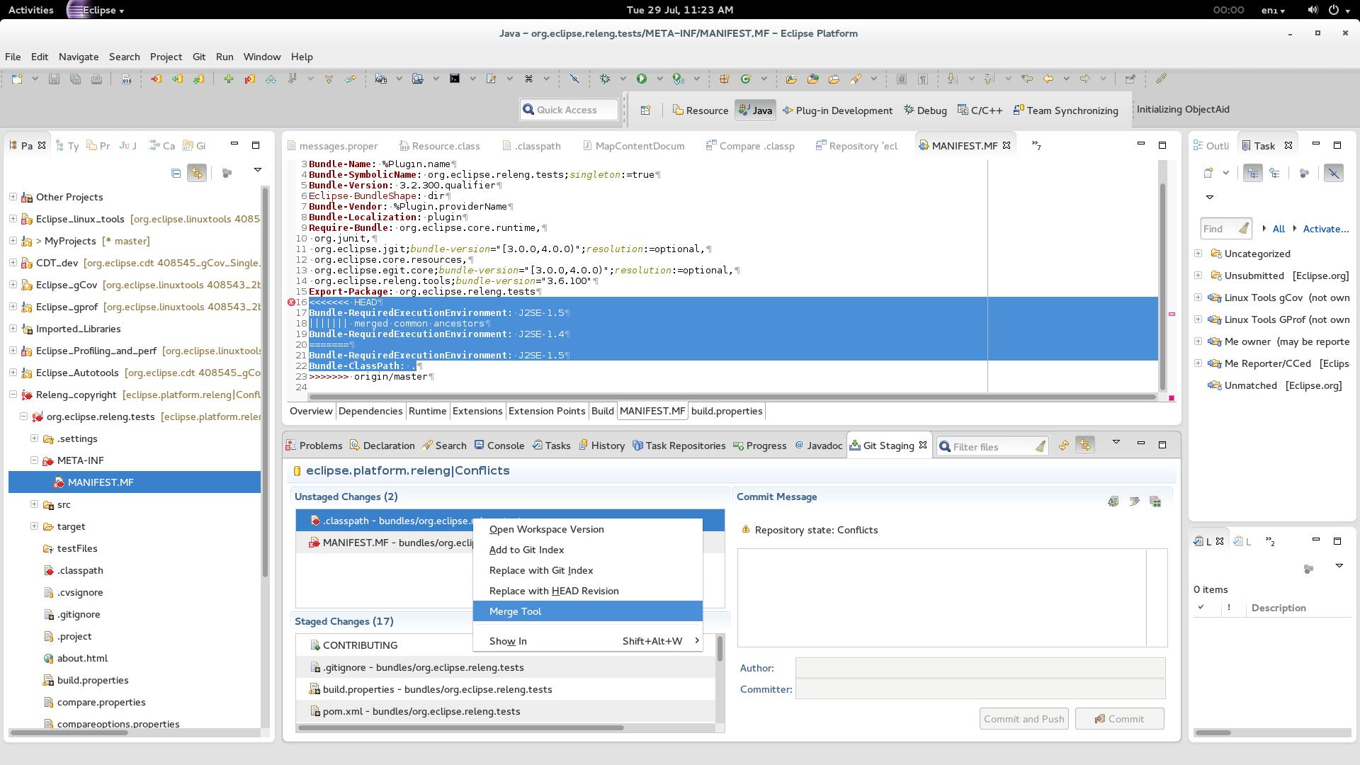 Git merge tool