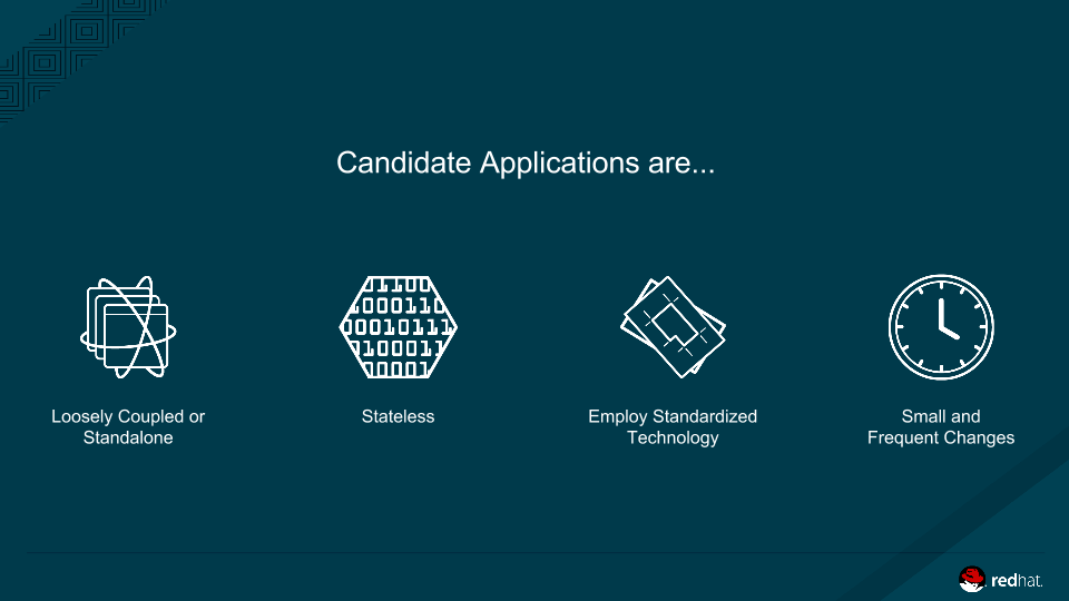 PaaS- Containers Candidate Applications