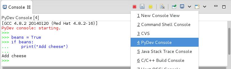 PyDev Console