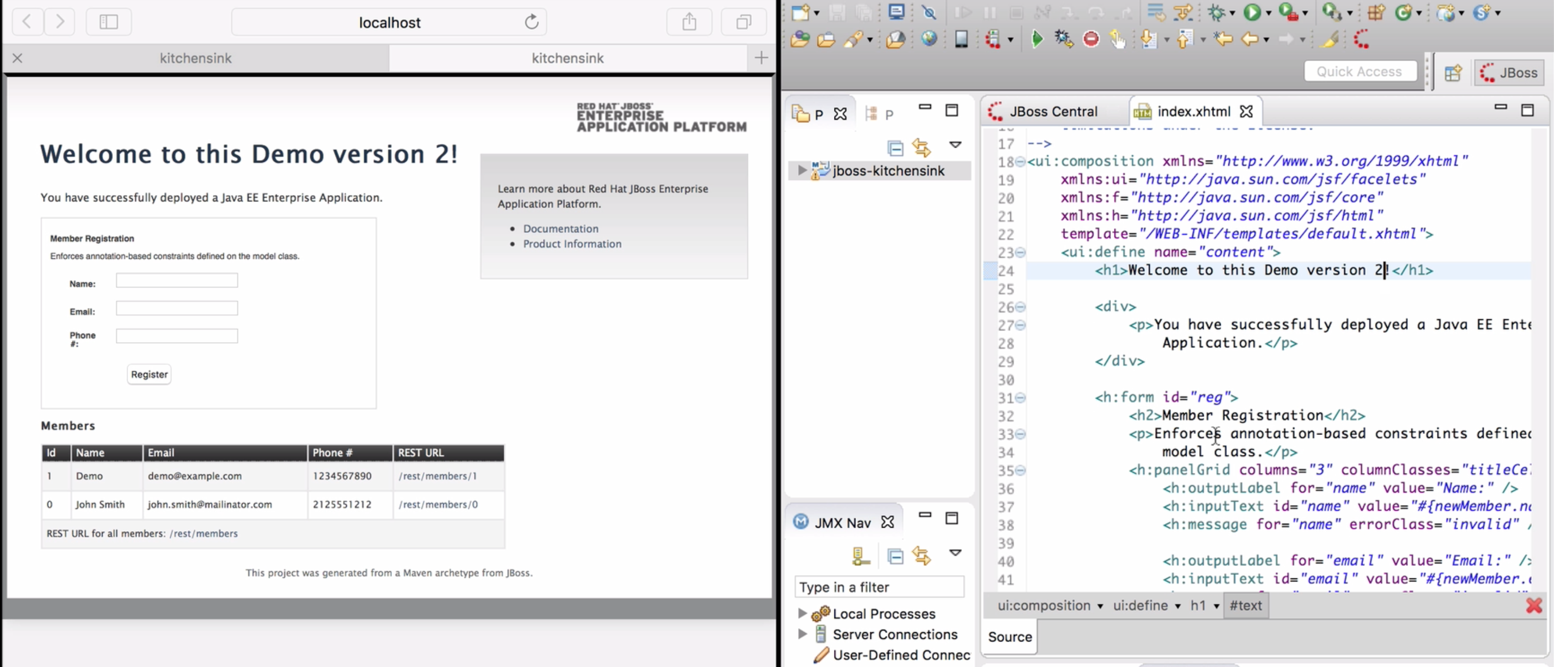 Show In -> Web Browser via LiveReload Server