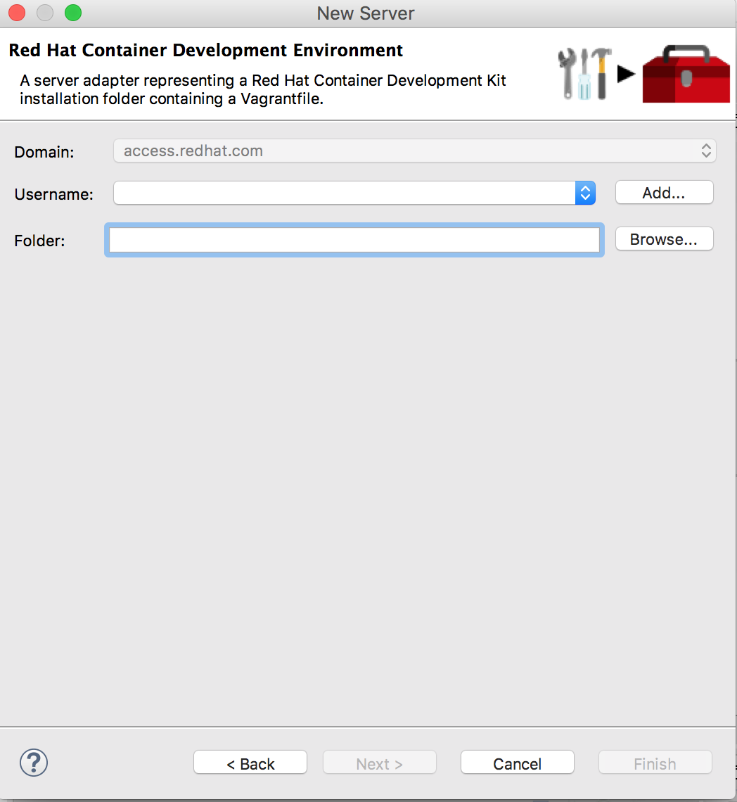 Red Hat Container Development Kit Server Configuration