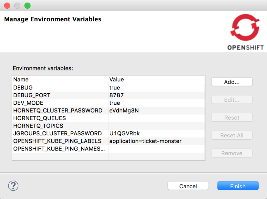 Manage Environment Variables