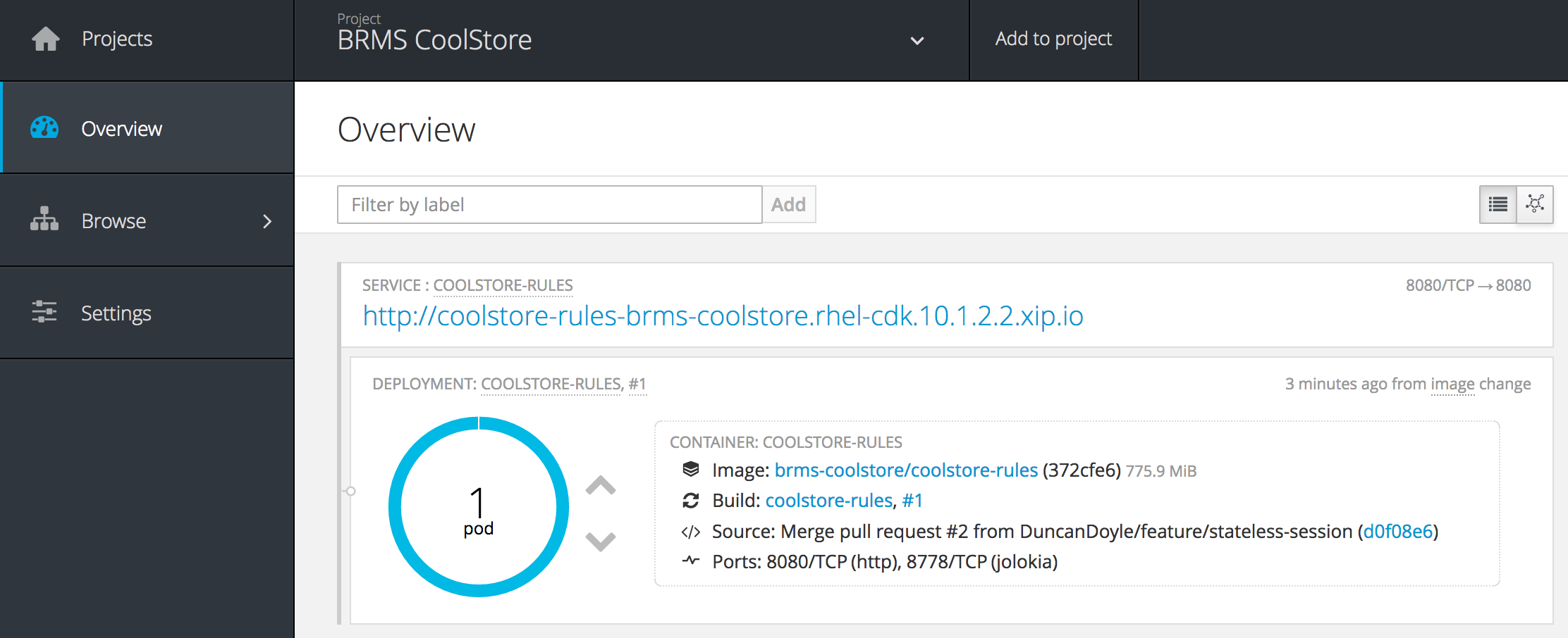 openshift-brms-coolstore-pod