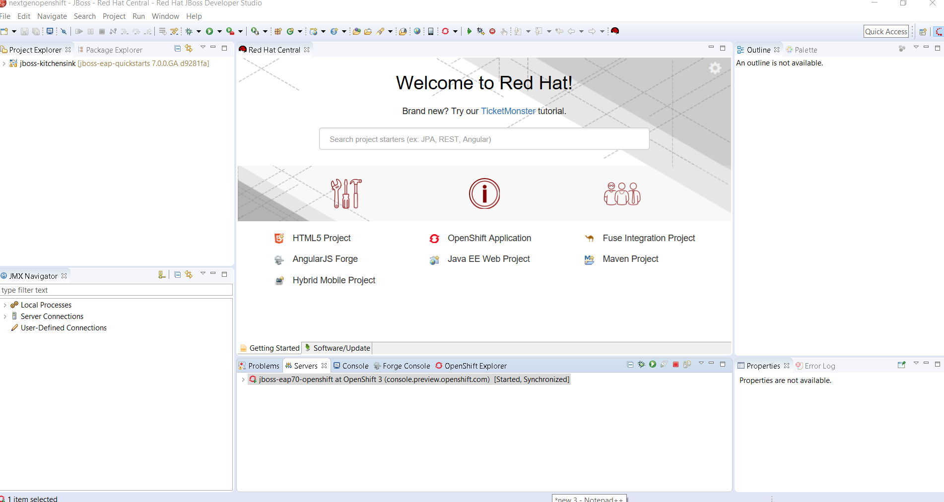 Develop and deploy on openshift next gen using red hat jboss there this is the synchronization process that has been initiated to make sure the local eclipse project is up to date with the openshift deployment baditri Gallery