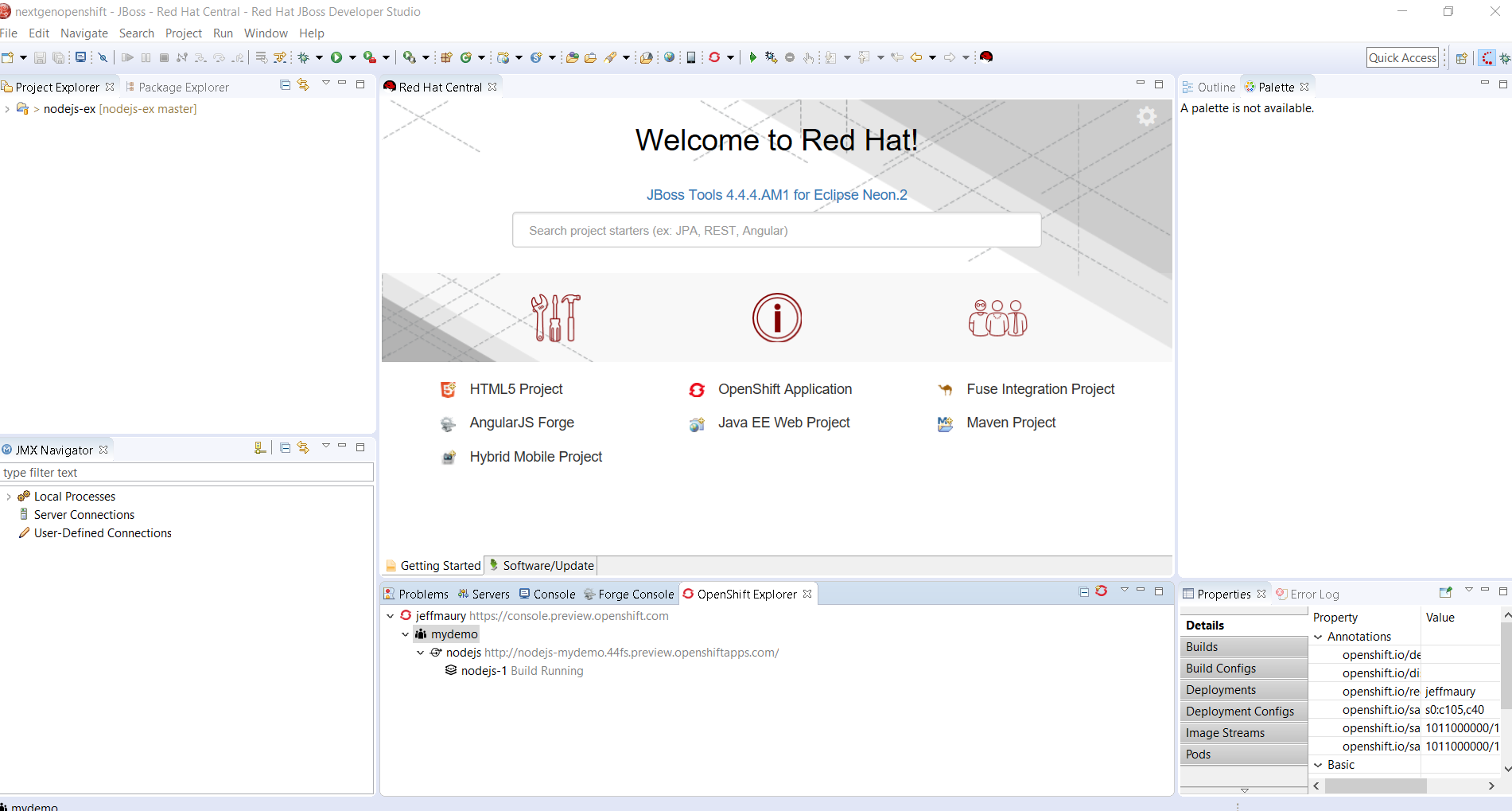 Develop and Deploy on OpenShift Next-Gen using Red Hat JBoss