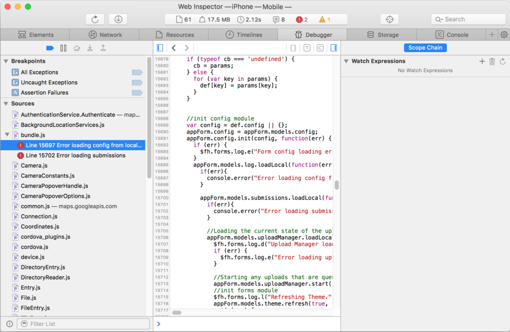 How to debug your mobile hybrid app on iOS - Red Hat Developer