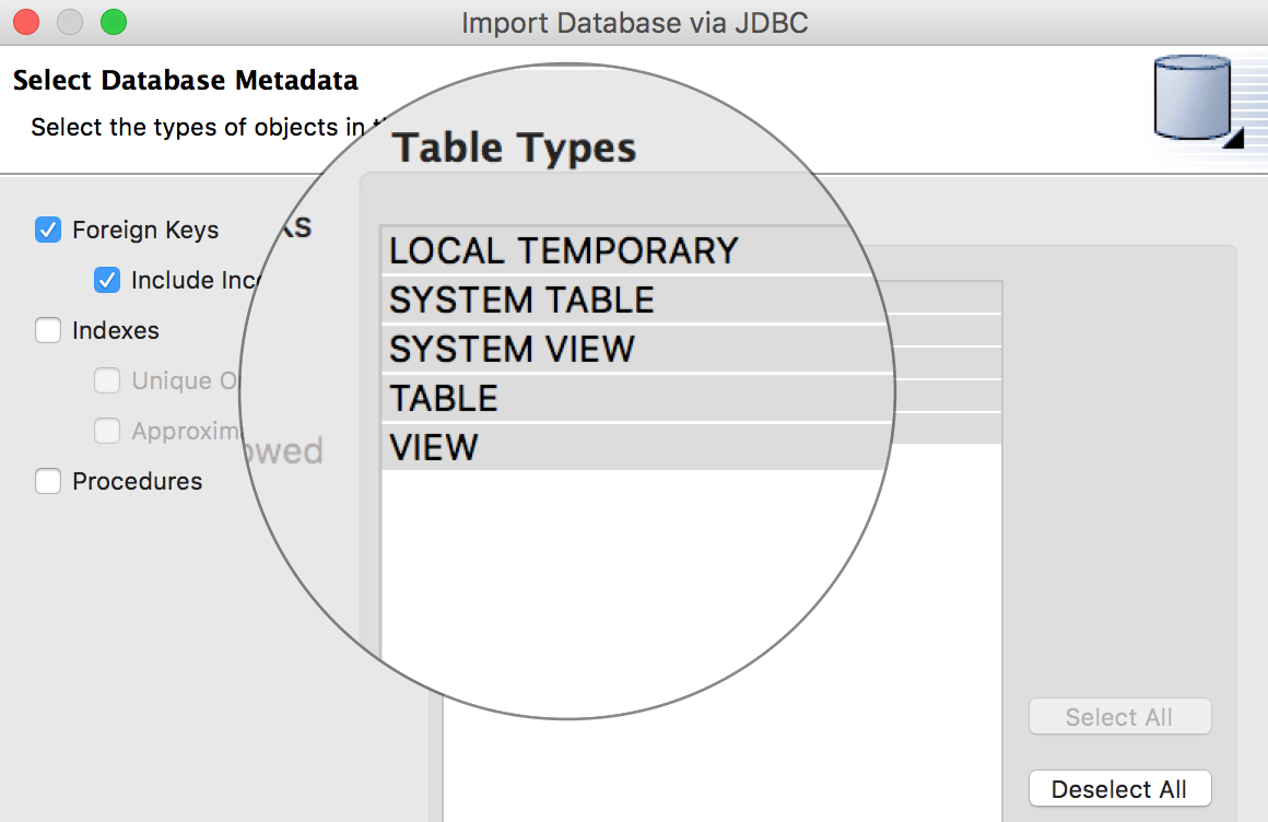 JBoss DataVirtualization : Select DB Metadata