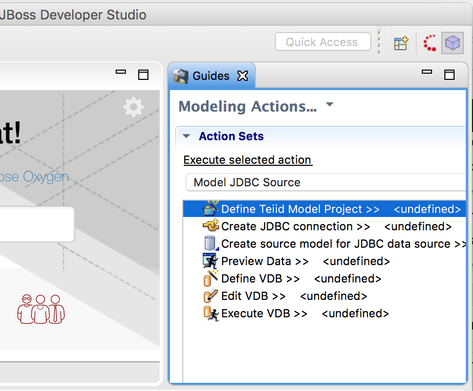 JBoss DataVirtualization: Create Model project from Teiid Designer Perspective