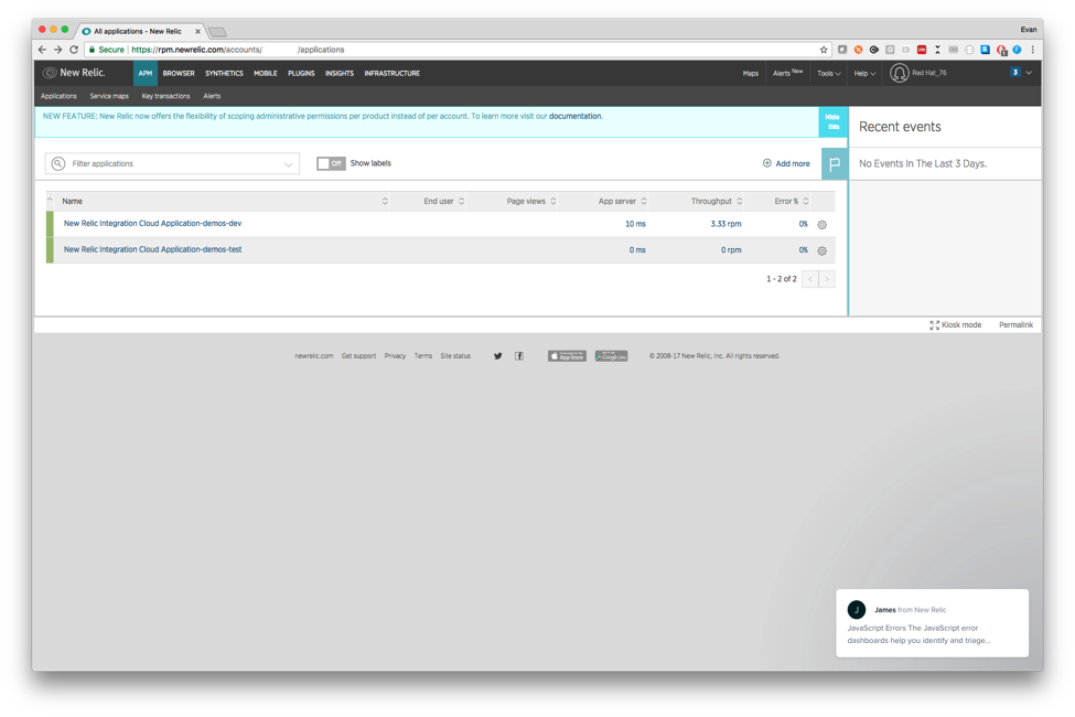Using New Relic in Red Hat Mobile Node js Applications - Red