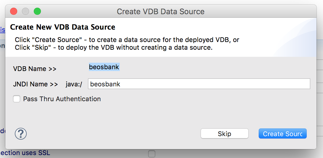 JBoss Data Virtualiazation: Create VDB Datasource