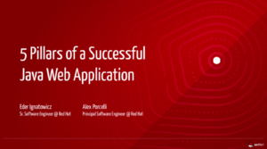 5 Pillars of a Successful Java Web Application (Part 1/3)