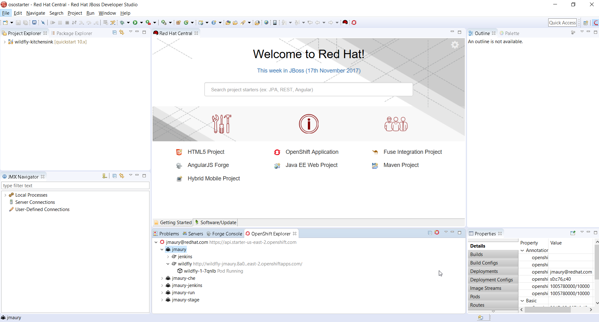 Develop and Deploy on OpenShift Online Starter using Red Hat JBoss