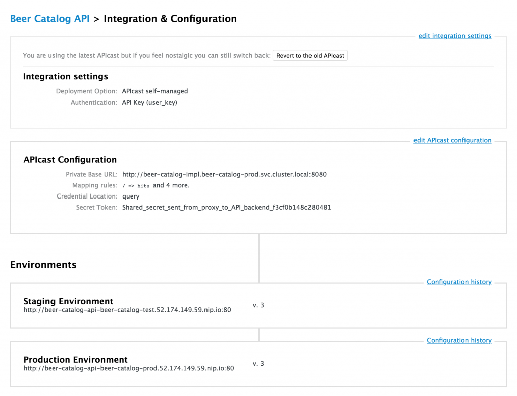 3scale API configuration