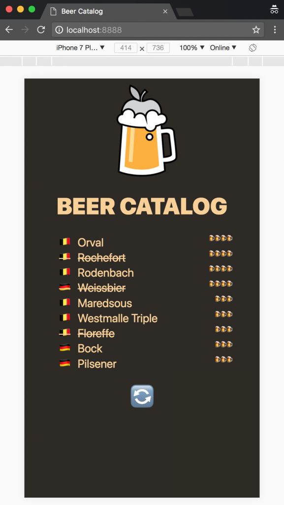 Beer catalog mobile app