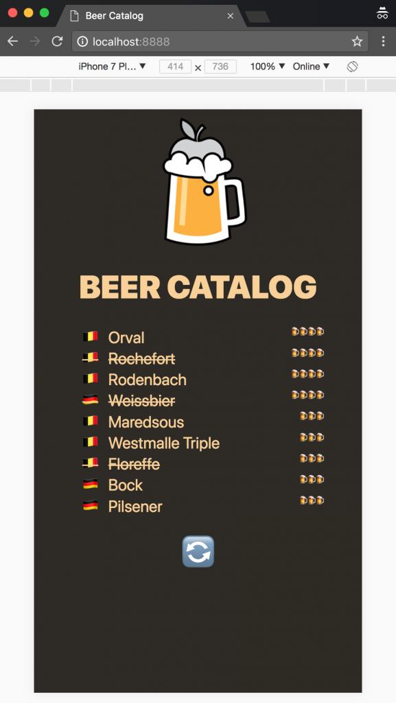 Beer catalog mobile app