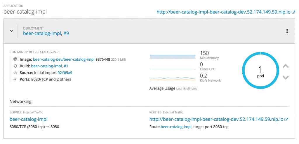 OpenShift app deployment