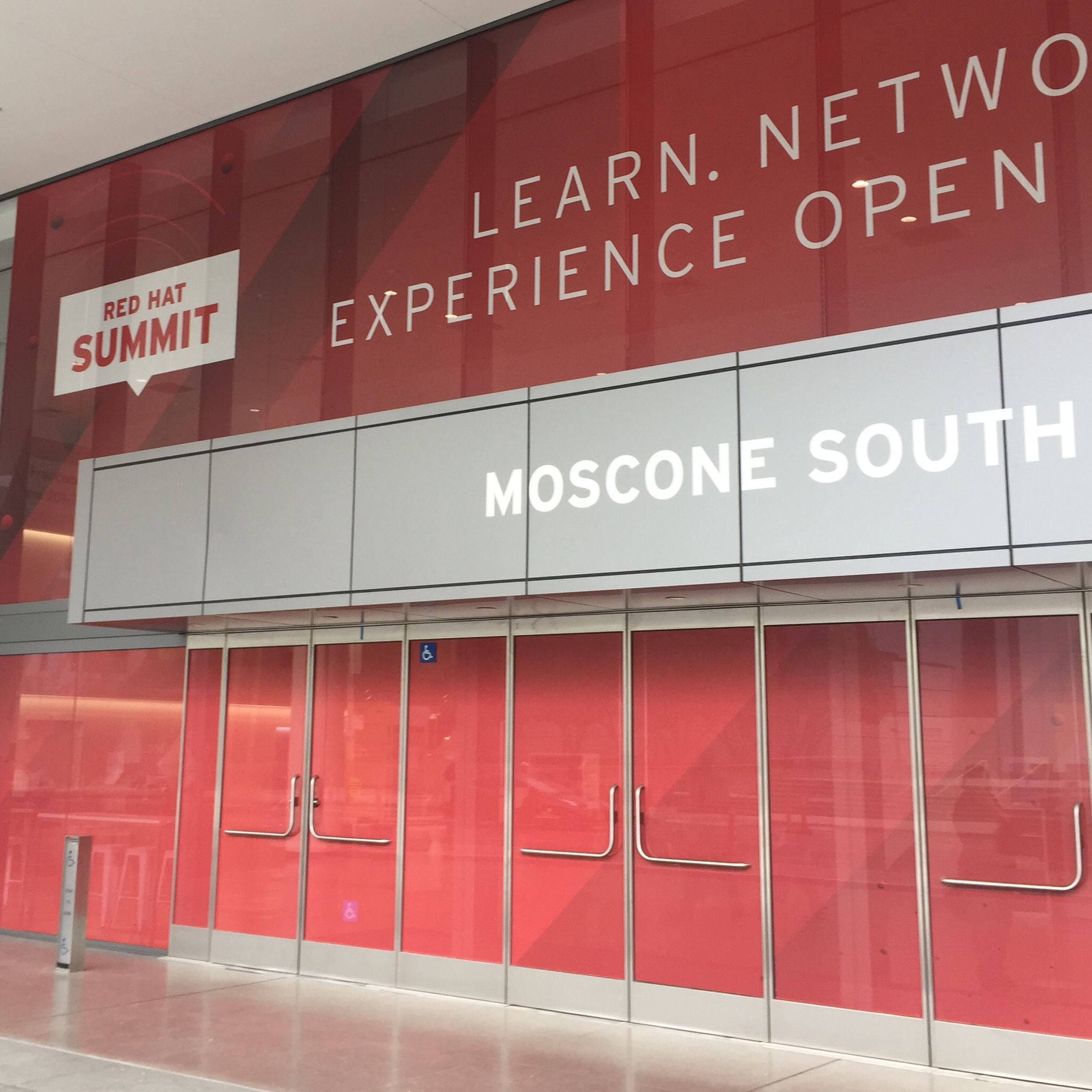 Red Hat Summit signage at Moscone South
