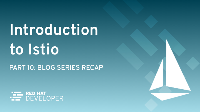 Istio Service Mesh Blog Series Recap
