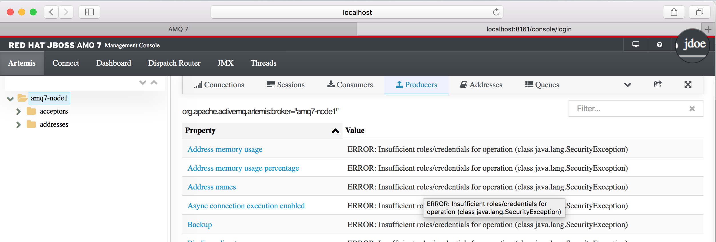 How to set up LDAP authentication for the Red Hat AMQ 7 message