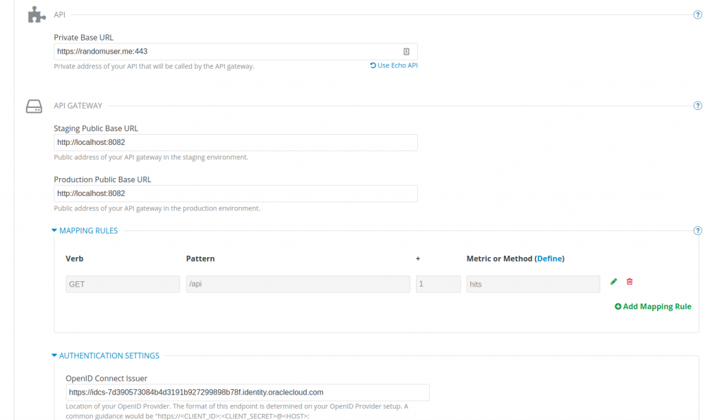 3scale API Management IdP settings