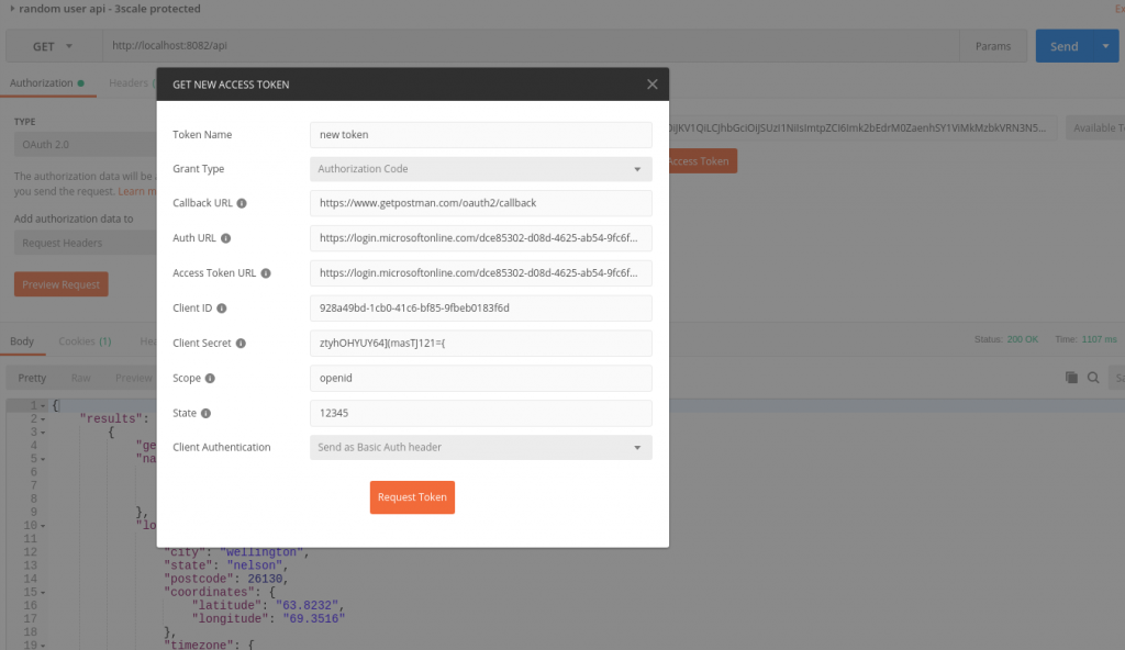 OIDC authentication with Postman