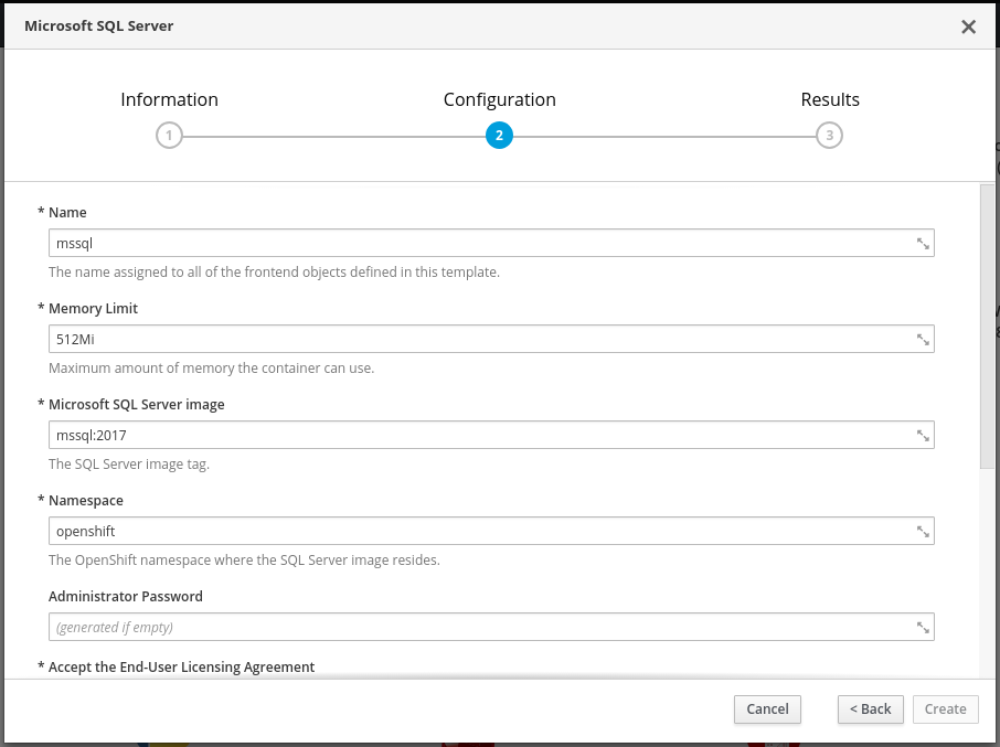 Adding a SQL server