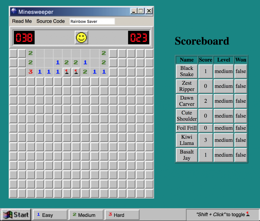 MicroSweeper screenshot
