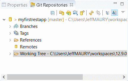Git Repositories view