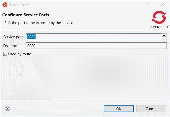 Configure Service Ports dialog box