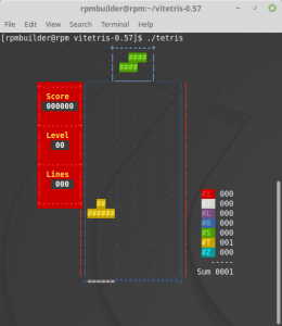 Running Tetris after building from source code
