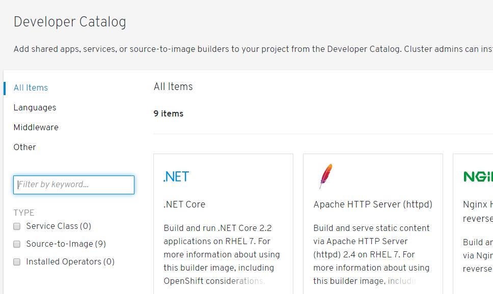 catalog BEFORE - Red Hat Developer Blog