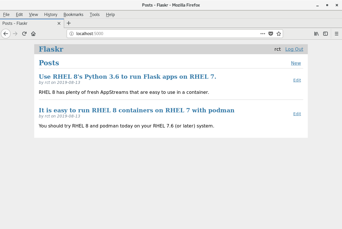 Develop with Flask and Python 3 in a container on Red Hat