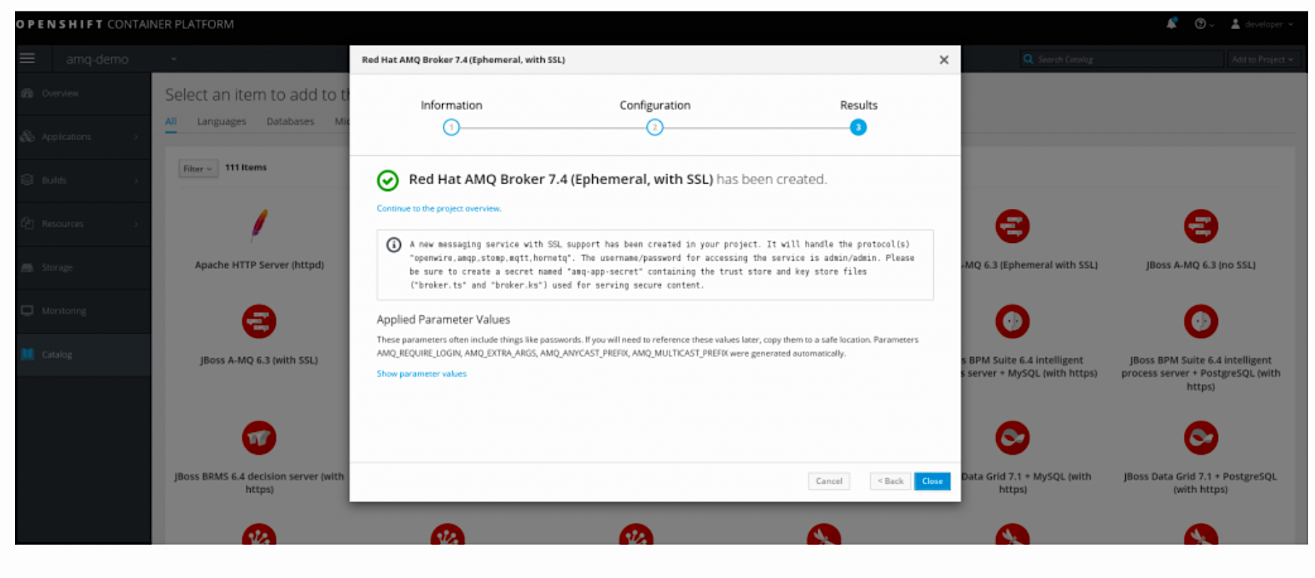 4 steps to set up the MQTT secure client for Red Hat AMQ 7.4 on OpenShift