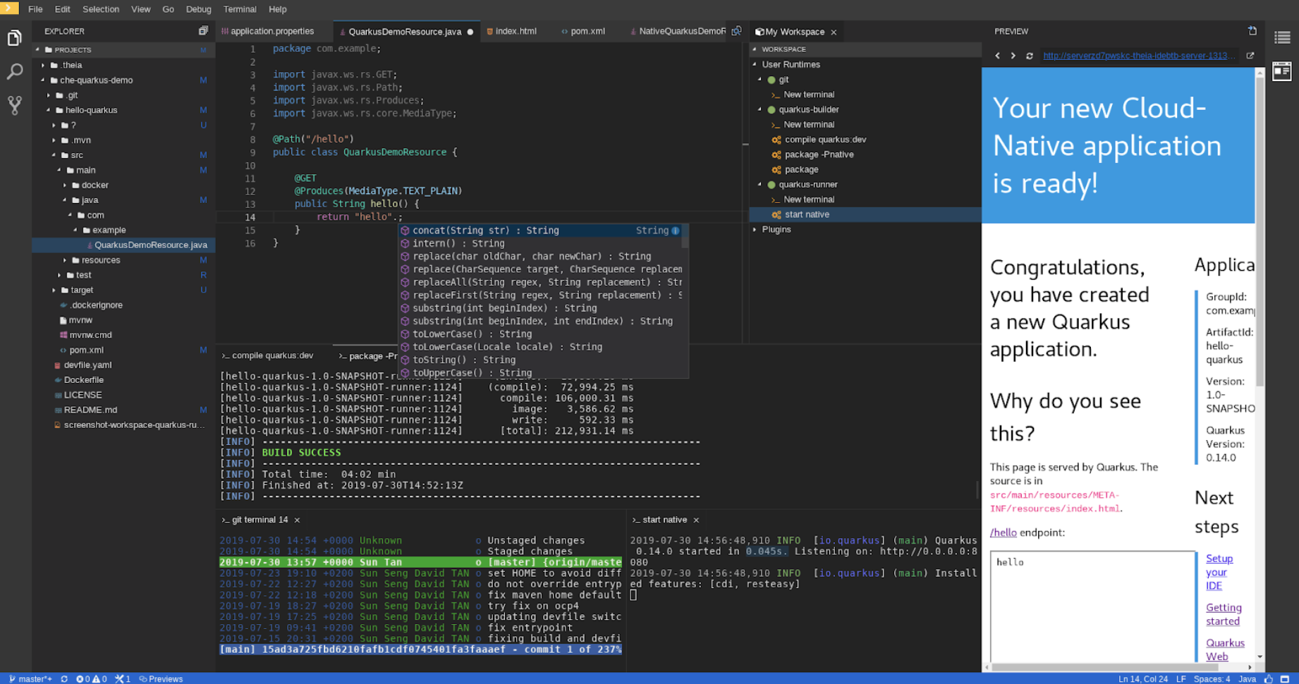 Eclipse Che, Kubernetes-native IDE, version 7 now available