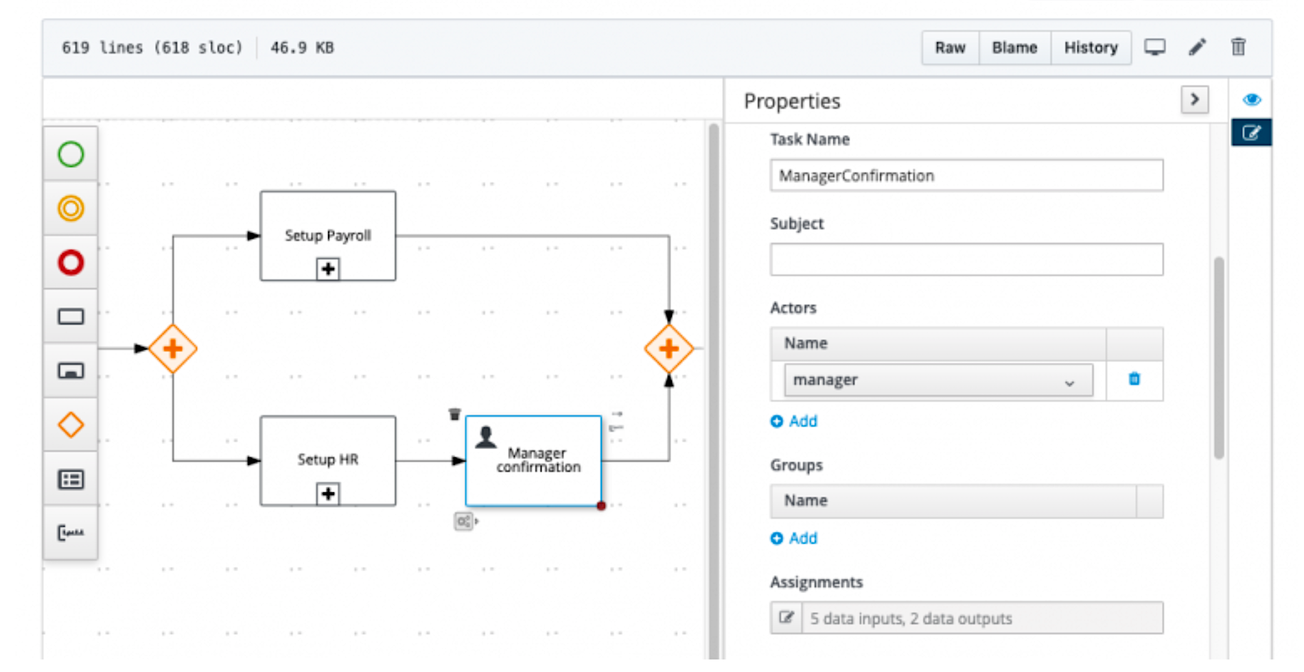 Kogito tooling for friendly DMN and BPMN visualization on GitHub