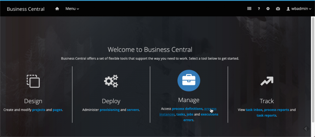 Business Central - Manage - process instances.