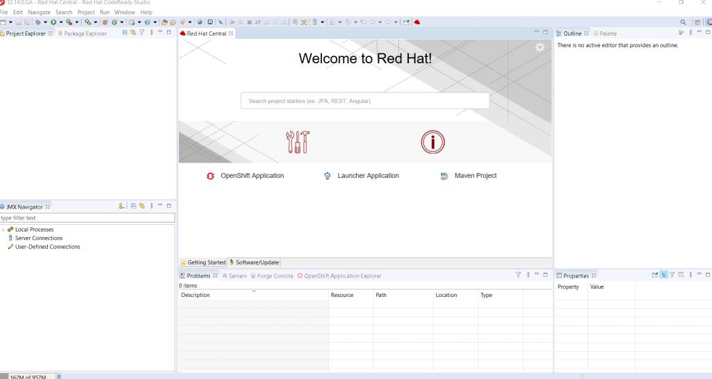 A screenshot of the new OpenShift Application Explorer view.