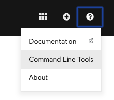 Help -> Command Line tools