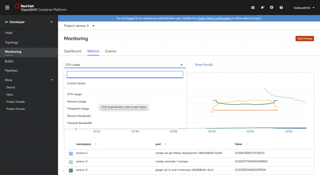 example monitoring metrics