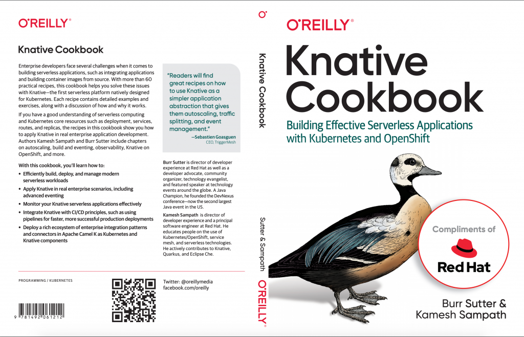 Knative Cookbook front and back cover