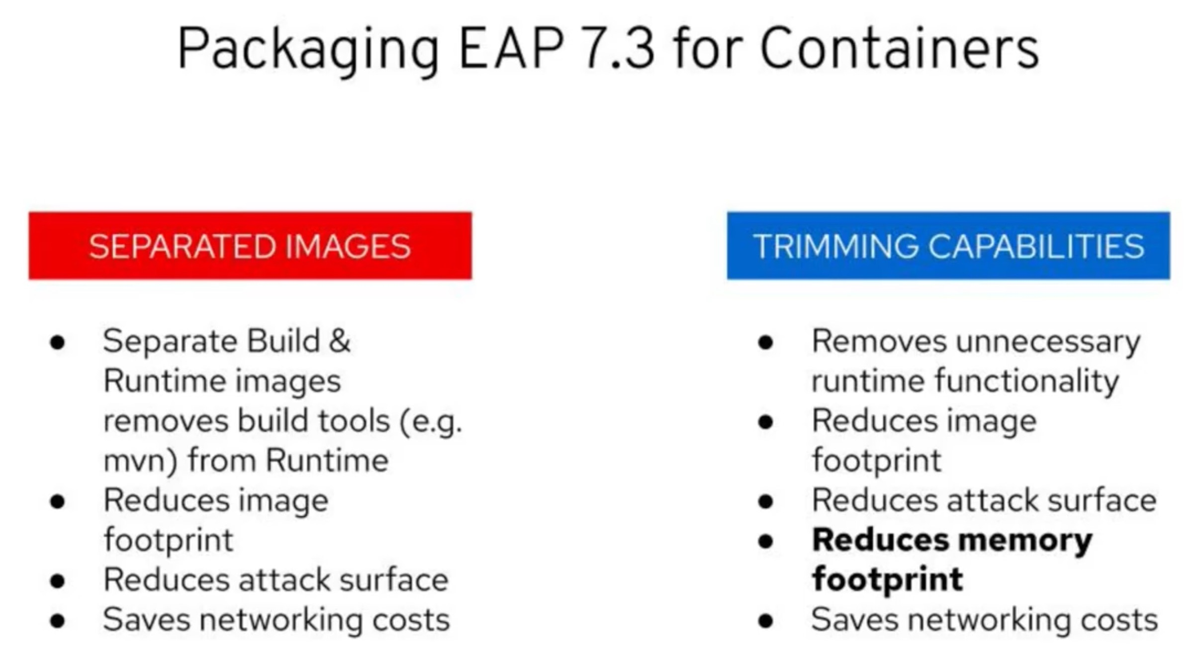 JBoss EAP 7.3 brings new packaging capabilities