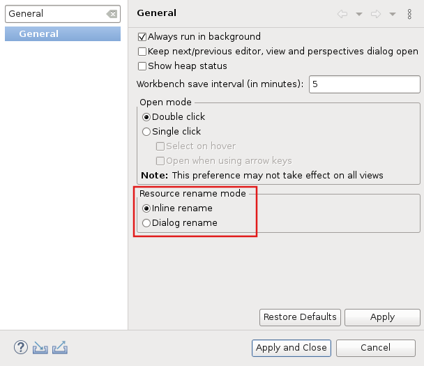 Image of two renaming options: Inline or Dialog-driven