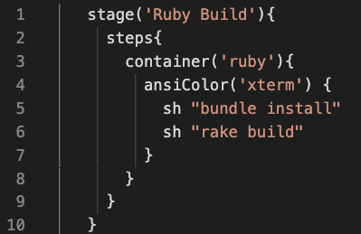 A screenshot of the 'Ruby Build' command.