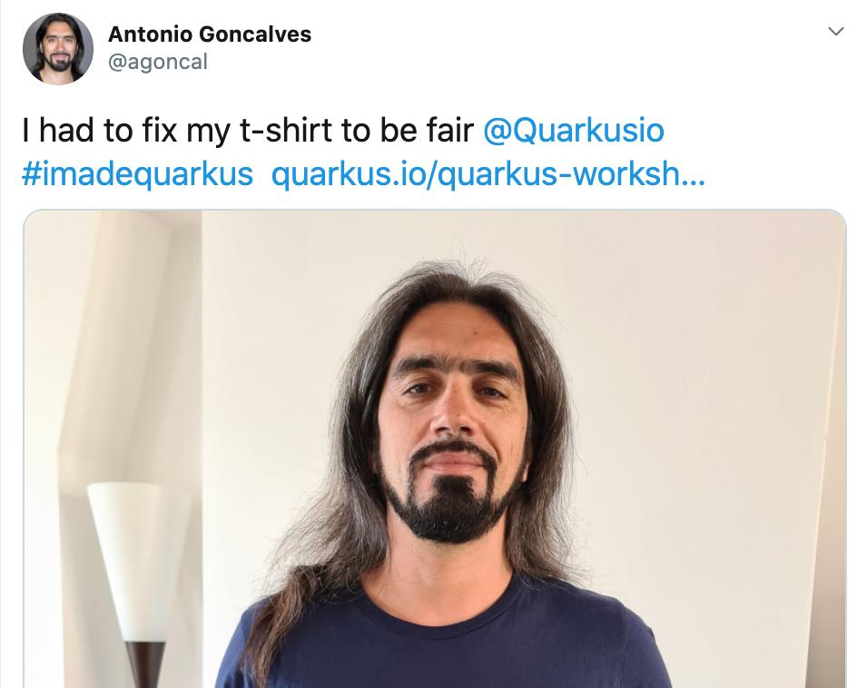 @agoncal Quarkus Twitter post