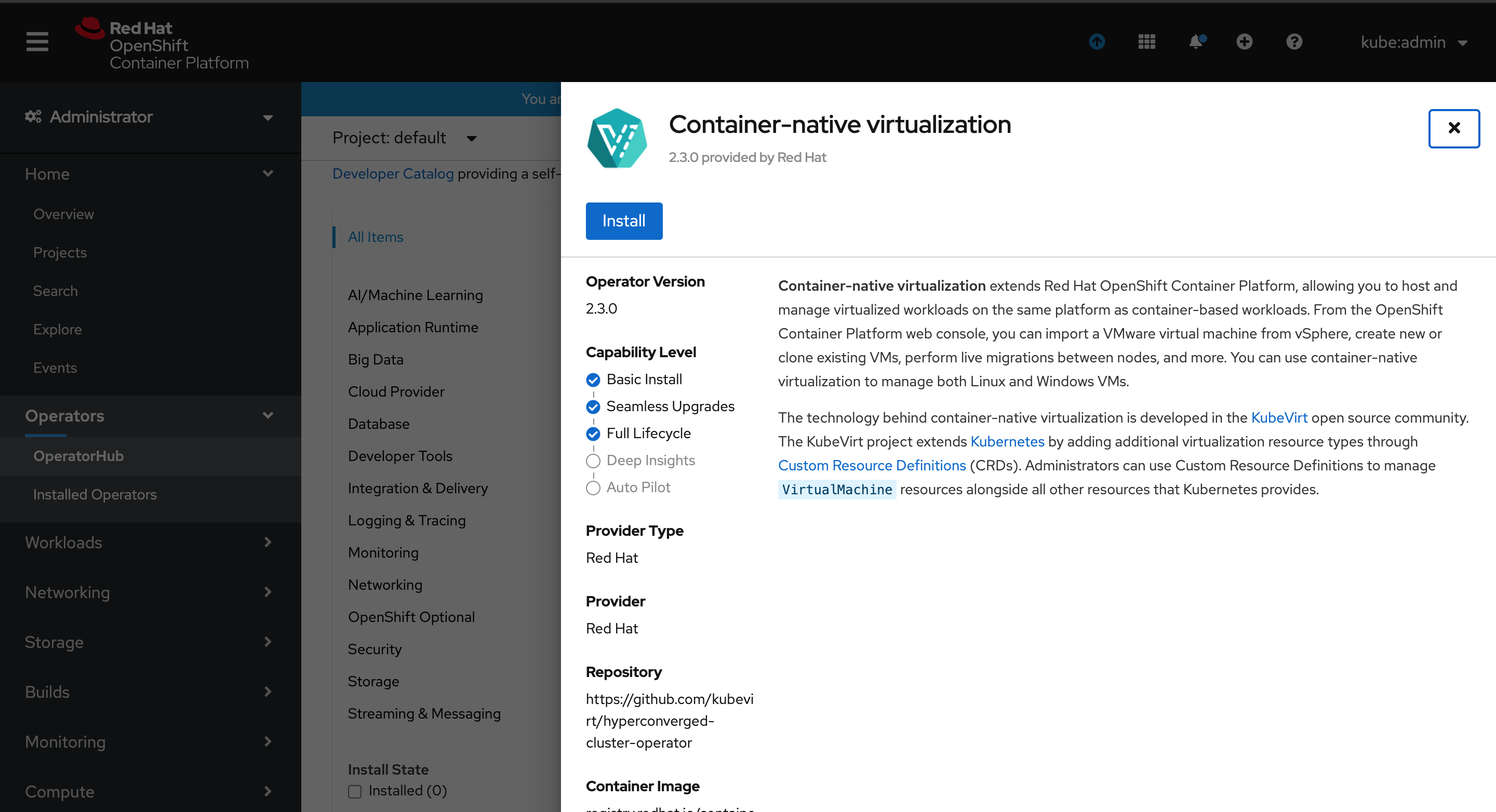 Enable OpenShift Virtualization on Red Hat OpenShift