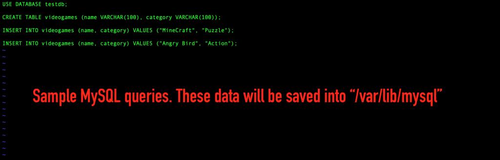 Using sample SQL queries saved in /var/lib/mysql.