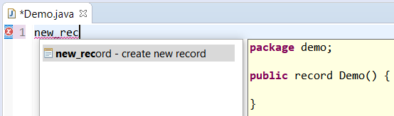 A screenshot of the new_record template option.