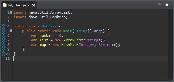 A screenshot of MyClass.java after cleanup.