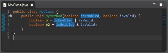 A screenshot of MyClass.java before cleanup.